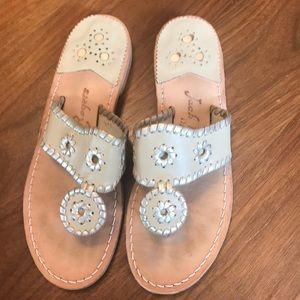 Jack Rogers Dakota tan sandals leather 7 medium